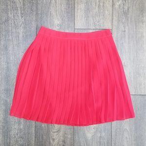 Ann Taylor Loft Red Pleated Skirt - 0